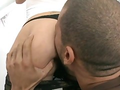 Breathtaking doxy with great oiled butt gets her vagina nailed