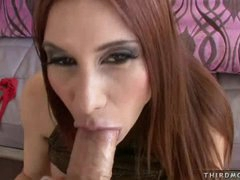 During a blowjob Sheila Marie lives to have mouth filled with a big dick