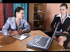 Juvenile secretary knows some tricks seducing a mother i'd like to fuck into lesbo office sex
