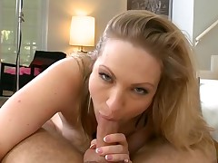 Breasty darling delights with oral sex and hawt titty fuck