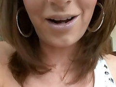 Beauty likes to acquire her loving holes stuffed by large penis