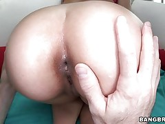 Crazy milf Remy has a big booty and is very proud of herself. She enjoys showing off her ass and holes to the camera and this really turns her on. Hey boyfriend approaches her and starts licking her pussy and her ass hole to make them wet. Then, he sticks his finger in her ass because we all know what`s next!